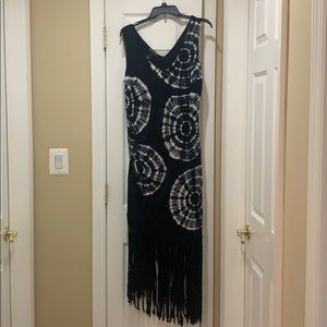 Cute dress with fringe bottom